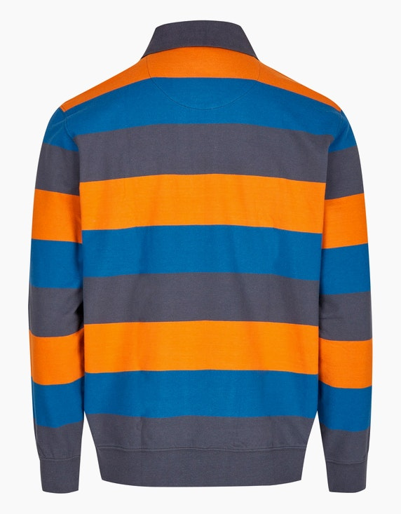 Bexleys man Polo-Sweatshirt mit Blockstreifen | ADLER Mode Onlineshop