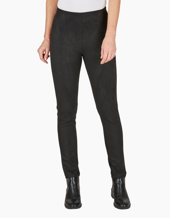 Bexleys woman Leggings in Wildleder-Optik | ADLER Mode Onlineshop