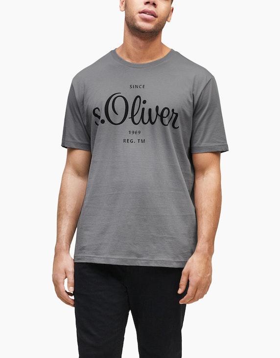 s.Oliver Jerseyshirt mit Label-Print | ADLER Mode Onlineshop