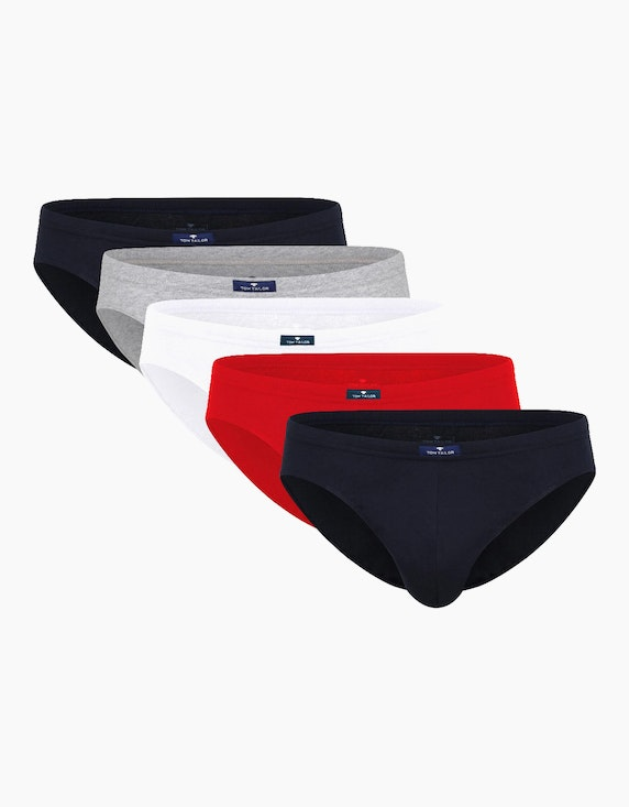 Tom Tailor 5er-Pack Slips | ADLER Mode Onlineshop