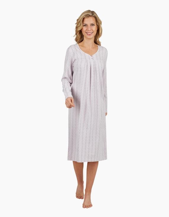 Malva Nachthemd mit ganzflächigem Druck | ADLER Mode Onlineshop