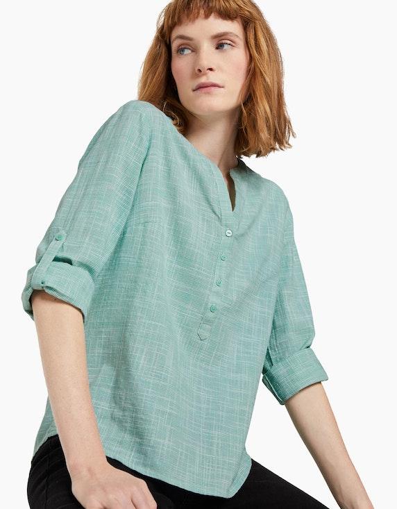 Tom Tailor Strukturierte Henley Bluse | ADLER Mode Onlineshop