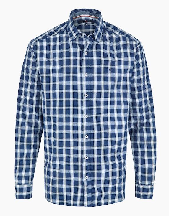 Via Cortesa kariertes Freizeithemd in Blau/Weiß   ADLER Mode Onlineshop