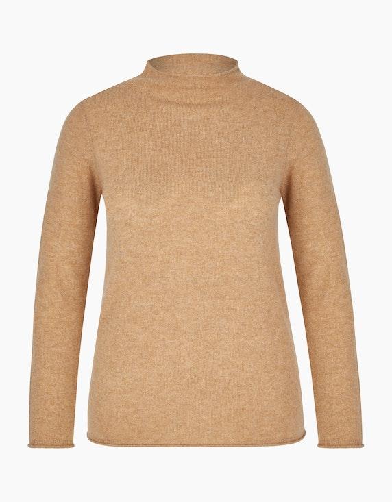 Bexleys woman Cashmere-Pullover mit Stehkragen in Beige | ADLER Mode Onlineshop