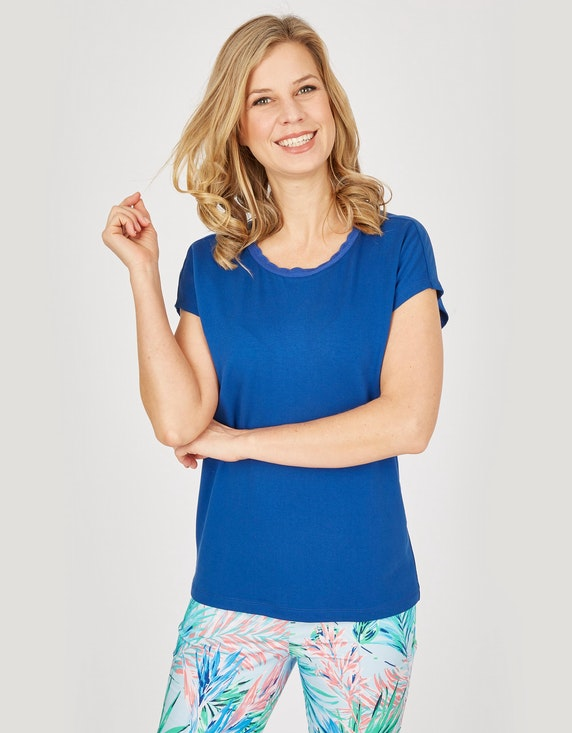 Bexleys woman Baumwollhose mit Blätterdruck in Normal- und Kurzgrößen   ADLER Mode Onlineshop