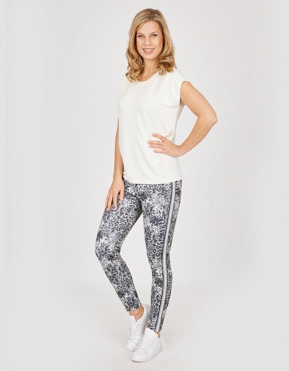 Bexleys woman Leggings mit Leo-Druck und Galonstreifen in Normal- und Kurzgröße   ADLER Mode Onlineshop