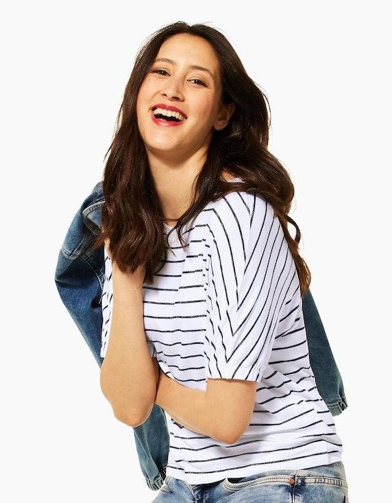 Street One Feinstrick-Shirt im Streifen-Look, Style Edona | ADLER Mode Onlineshop