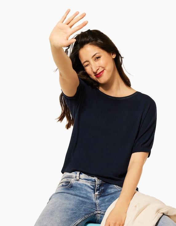 Street One Unifarbenes Feinstrick-Shirt | ADLER Mode Onlineshop