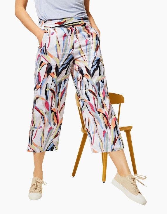 Street One Leinen-Hose im Culotte-Style | ADLER Mode Onlineshop