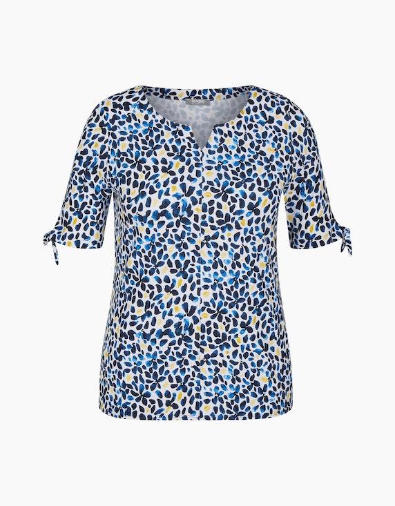 s.Oliver Shirt mit getupftem Allover-Muster | ADLER Mode Onlineshop