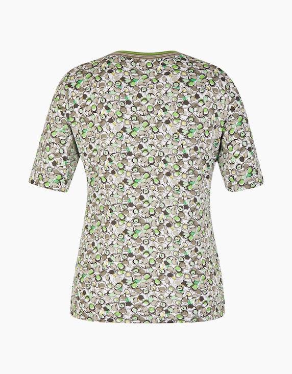 Rabe Shirt mit grafischem Muster und Kontrastblende | ADLER Mode Onlineshop