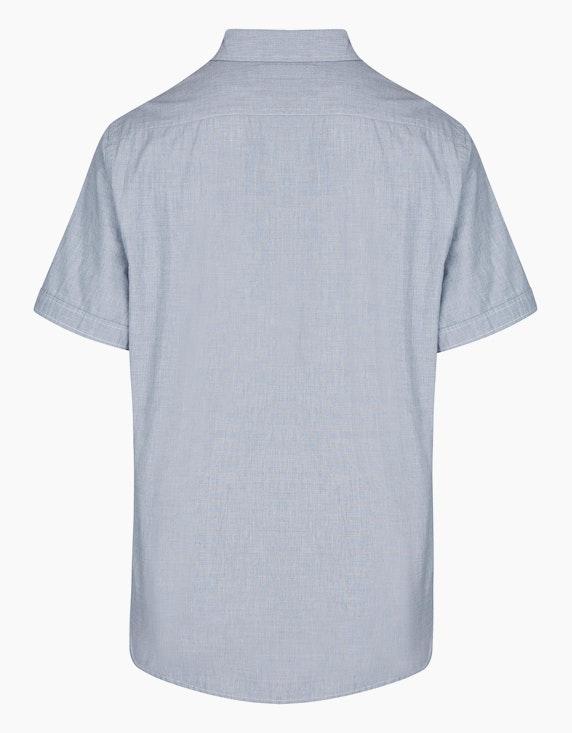 Bexleys man Unifarbenes Freizeithemd mit Details, MODERN FIT | ADLER Mode Onlineshop