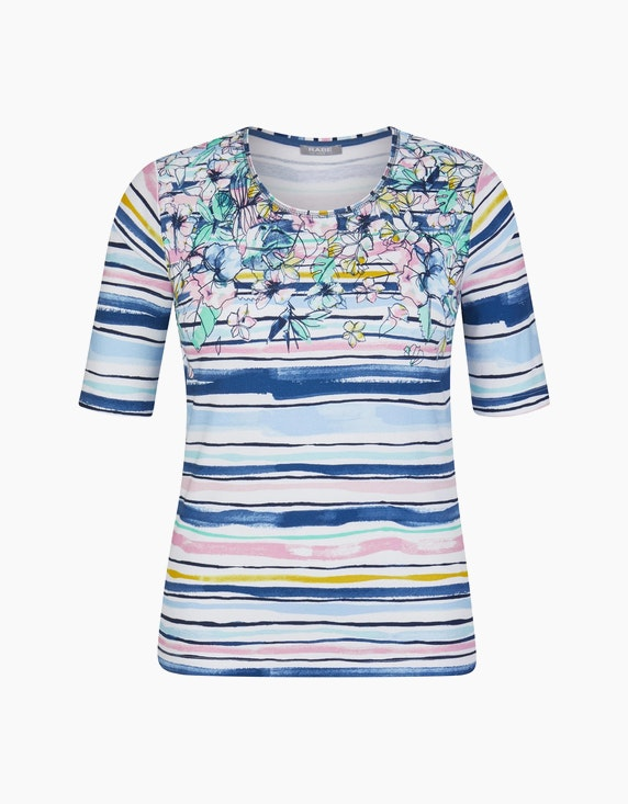 Rabe Shirt mit Streifen und Blüten | ADLER Mode Onlineshop