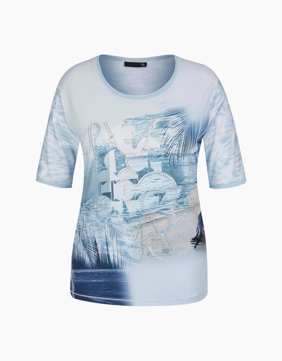 Rabe Shirt mit Druck und Rollkanten   ADLER Mode Onlineshop