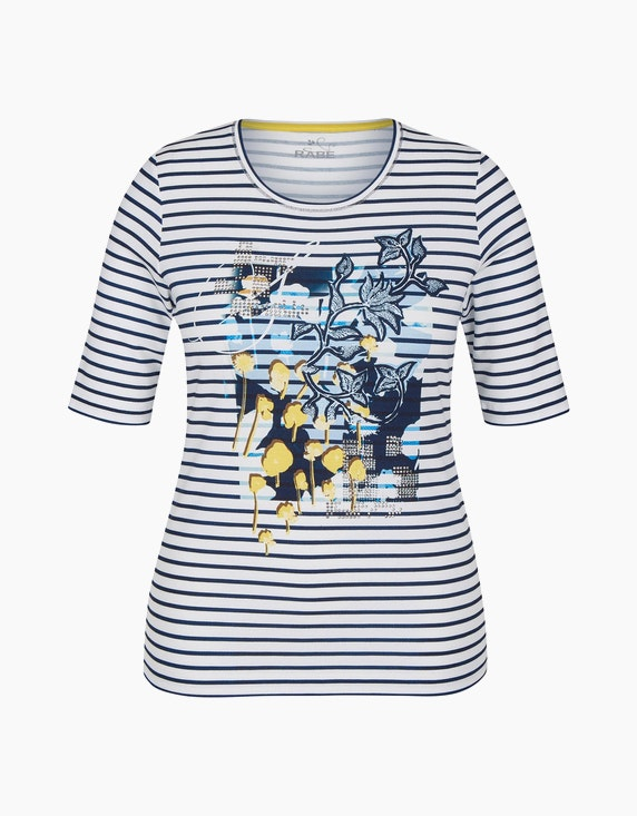 Rabe Shirt mit Streifen und Druckmotiv   ADLER Mode Onlineshop