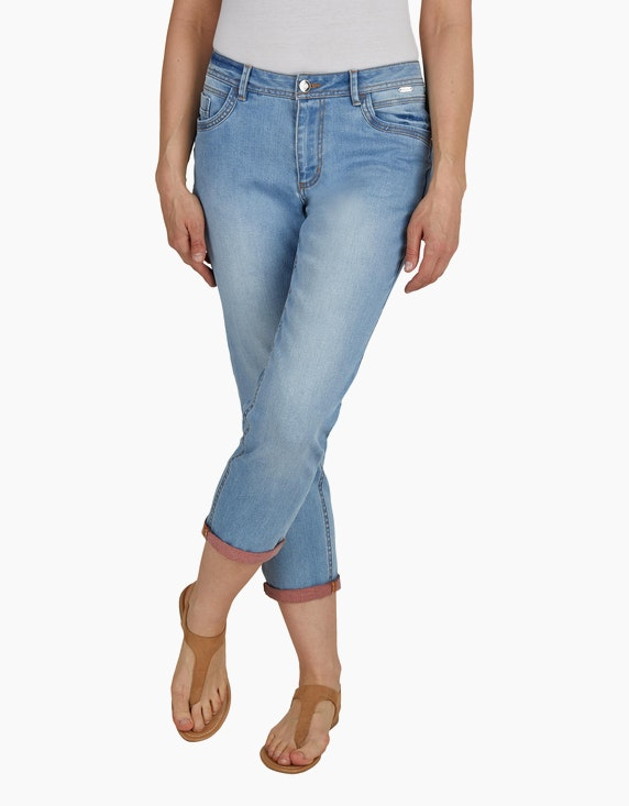 Steilmann Woman 7/8 Jeans mit kontrastfarbener Innenseite   ADLER Mode Onlineshop