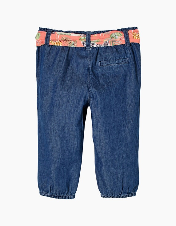 s.Oliver Mini Girls Capri-Jeans mit Stoffgürtel | ADLER Mode Onlineshop