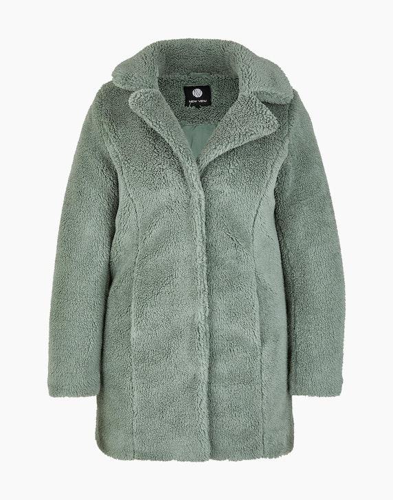 Adler Collection Teddyfell-Jacke mit Reverskragen in Salbei | ADLER Mode Onlineshop