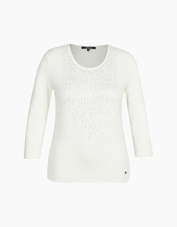 Steilmann Woman Shirt mit Strass und Ärmeln in 3/4 Länge in Cremeweiß | ADLER Mode Onlineshop