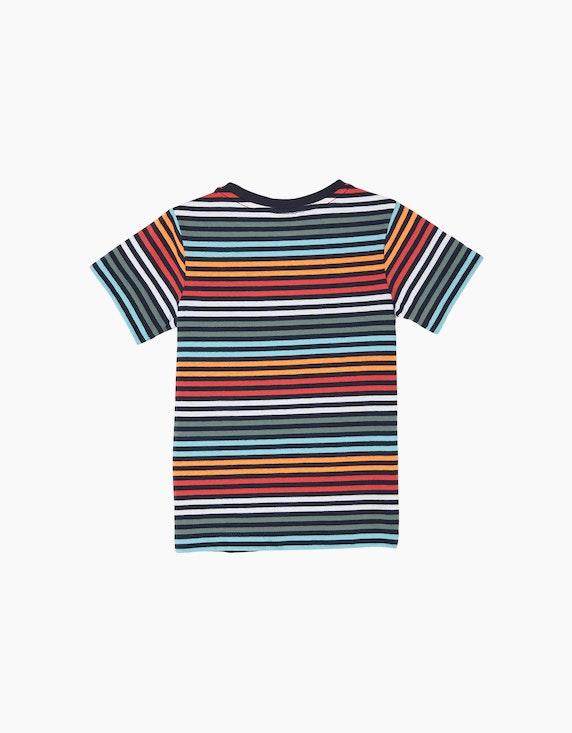 s.Oliver Mini Boys T-Shirt mit bunten Streifen | ADLER Mode Onlineshop