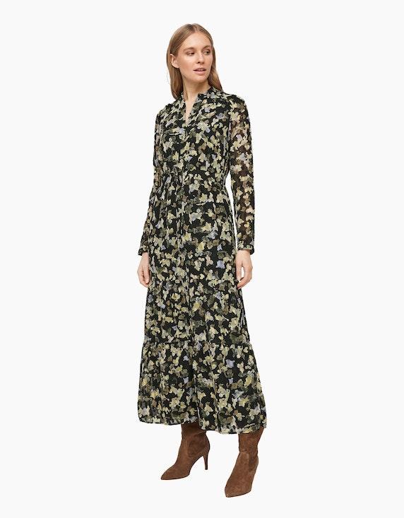 s.Oliver Volant-Kleid mit Allover-Print | ADLER Mode Onlineshop