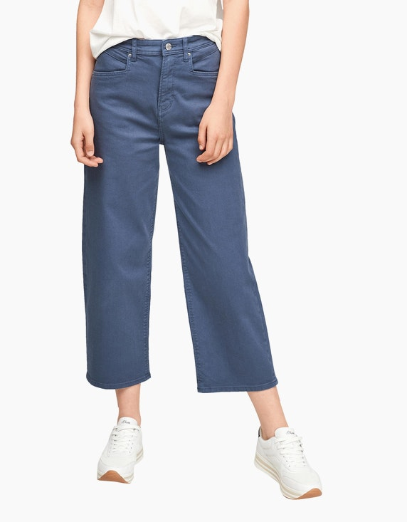s.Oliver Culotte im Color-Denim-Style, High Rise | ADLER Mode Onlineshop