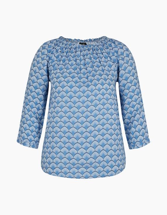 Bexleys woman Schlupfbluse mit Raglanärmeln in Blau/Weiß | ADLER Mode Onlineshop