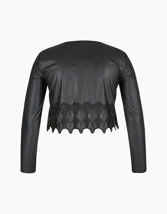 Viventy Kurze Jacke aus Lederimitat mit Spitze | ADLER Mode Onlineshop
