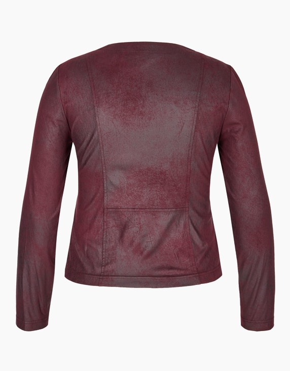 Viventy Lederimitat-Jacke mit Reißverschluss | ADLER Mode Onlineshop
