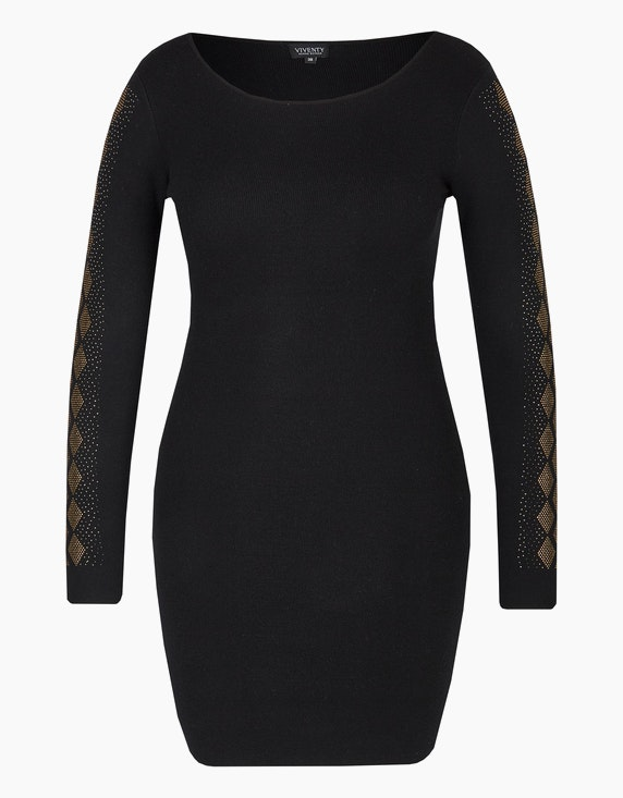 Viventy Feinstrick-Kleid mit Ziersteinen in Schwarz   ADLER Mode Onlineshop