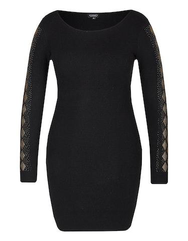 Produktbild zu Feinstrick-Kleid mit Ziersteinen von Viventy