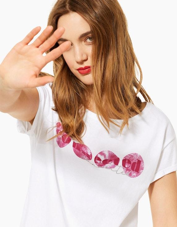 Street One Basic-Shirt mit Partprint | ADLER Mode Onlineshop