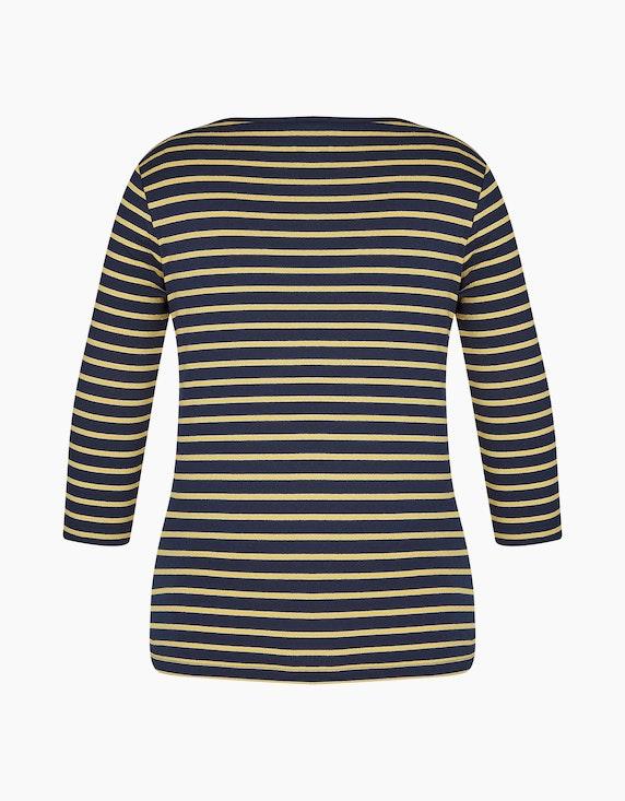 Bexleys woman Basic-Shirt mit feinem silber-Streifen   ADLER Mode Onlineshop