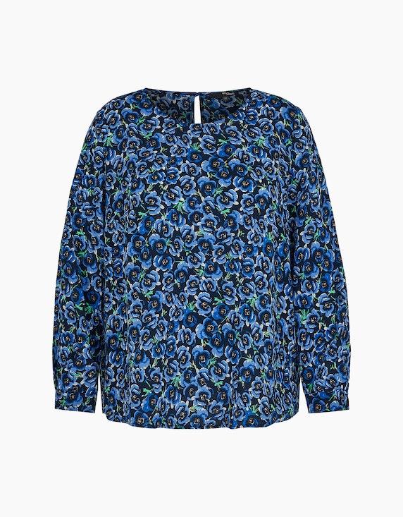 MY OWN Blusenshirt mit floralem Muster in Blau/Marine | ADLER Mode Onlineshop
