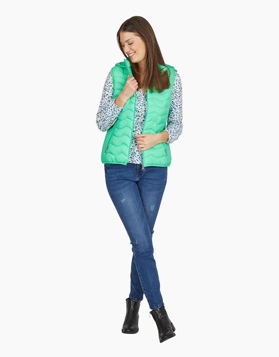 MY OWN Jeans-Hose mit Kontrastnähten und destroyed-Effekt in Denim Blue | ADLER Mode Onlineshop