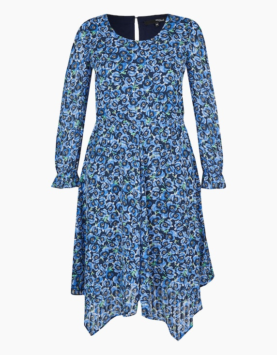MY OWN Chiffon-Kleid mit floralem Druck in Marine/Blau | ADLER Mode Onlineshop