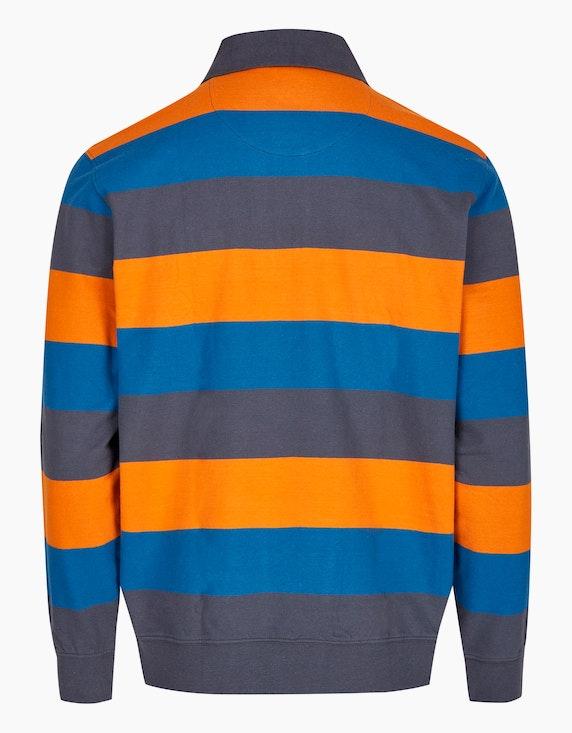 Bexleys man Polo-Sweatshirt mit Blockstreifen | ADLER Mode Onlineshop