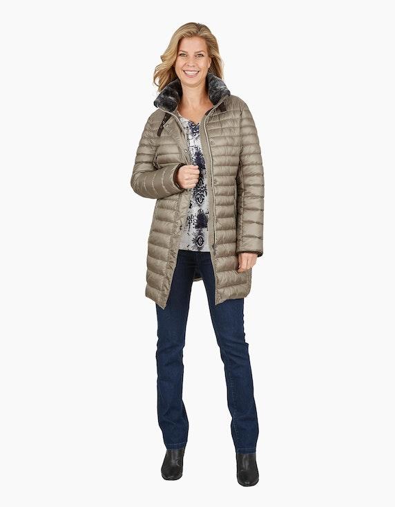 Bexleys woman Steppmantel mit Details aus Wildlederimitat und Webpelz | ADLER Mode Onlineshop