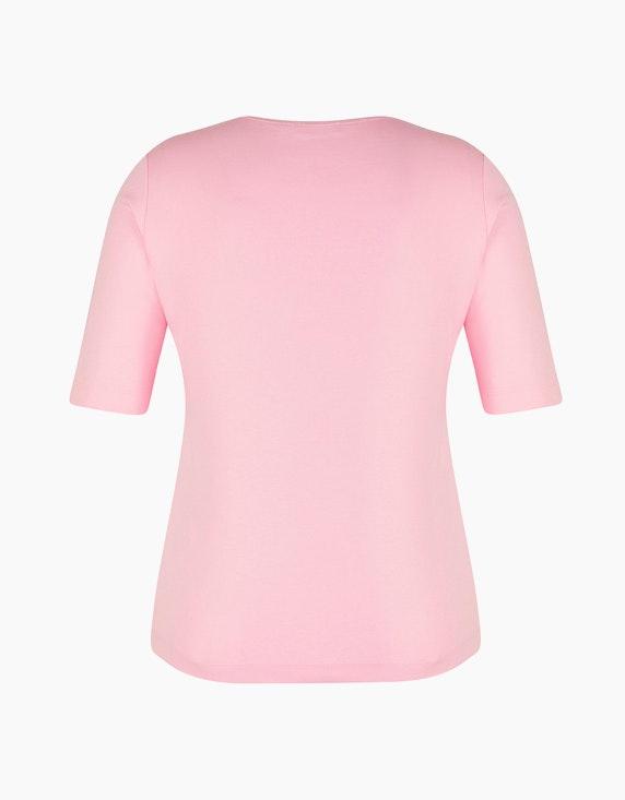 Rabe Baumwoll-Shirt mit Glitzer-Ausschnitt   ADLER Mode Onlineshop
