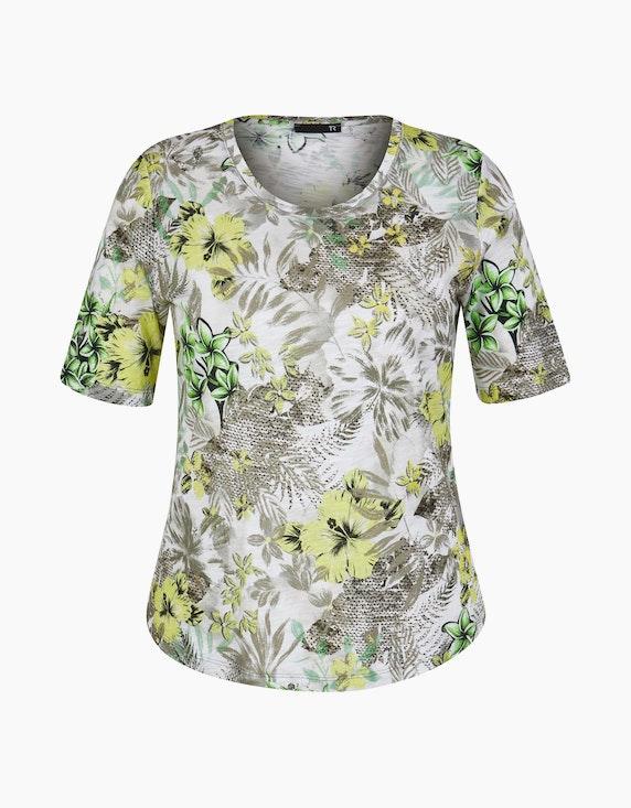 Rabe Shirt mit floralem Allover-Muster   ADLER Mode Onlineshop