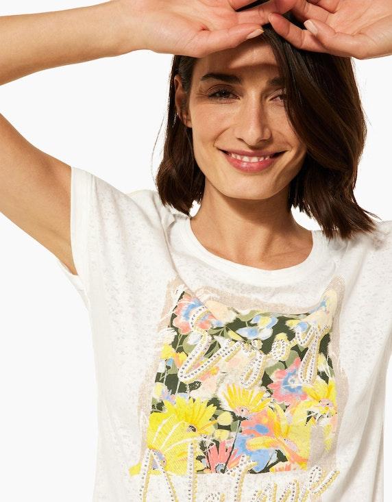 CECIL Ausbrenner-Shirt mit Nieten und Print | ADLER Mode Onlineshop