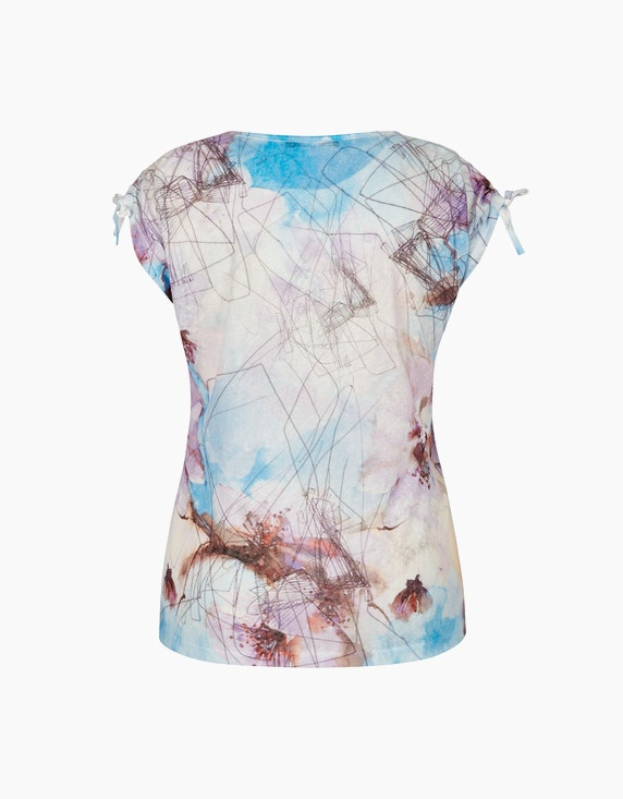 MY OWN Shirt mit Allover-Muster und Letterprint | ADLER Mode Onlineshop