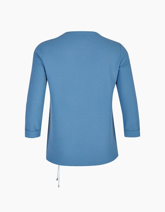 VIA APPIA DUE Strukturiertes Sweatshirt mit Tunnelzug   ADLER Mode Onlineshop