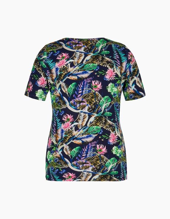 KS. selection Shirt mit Allover-Druck und Rundhalsausschnitt | ADLER Mode Onlineshop