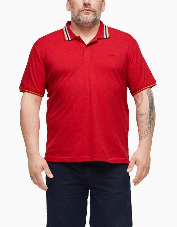 s.Oliver Poloshirt mit Kontraststreifen | ADLER Mode Onlineshop