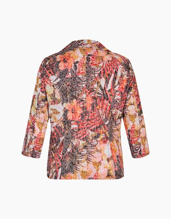 Bexleys woman Crinkle-Blusenblazer mit Druck und Ausbrenner | ADLER Mode Onlineshop