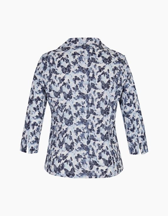 Bexleys woman Crinkle-Blusenblazer mit Schmetterlingsdruck und Ausbrenner | ADLER Mode Onlineshop