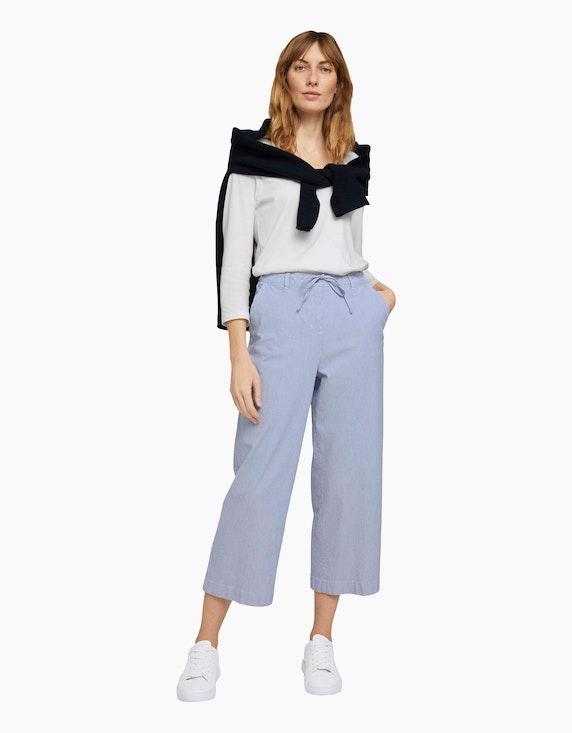 Tom Tailor Stoffhose im Streifen-Look und Culotte-Style | ADLER Mode Onlineshop