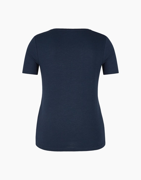 Bexleys woman Flammgarn-Shirt mit Strassmotiv | ADLER Mode Onlineshop