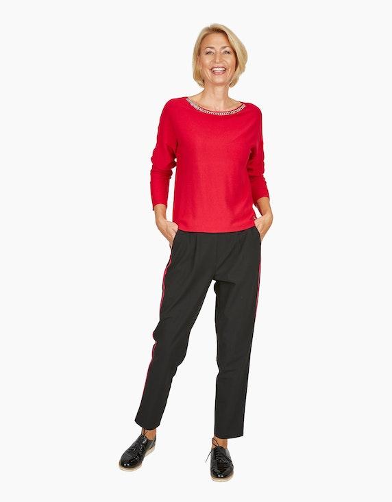 Steilmann Woman Hose mit Galonstreifen in Kontrastfarbe | ADLER Mode Onlineshop